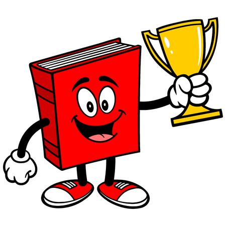 Book with Trophy Ilustração