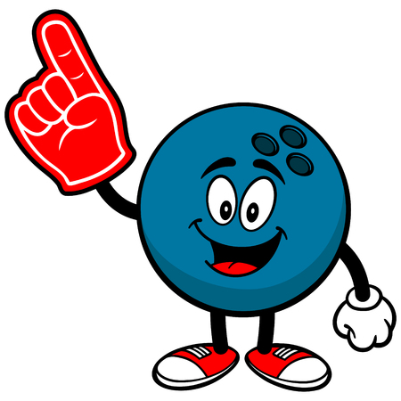 Bowling Ball with Foam Finger Çizim