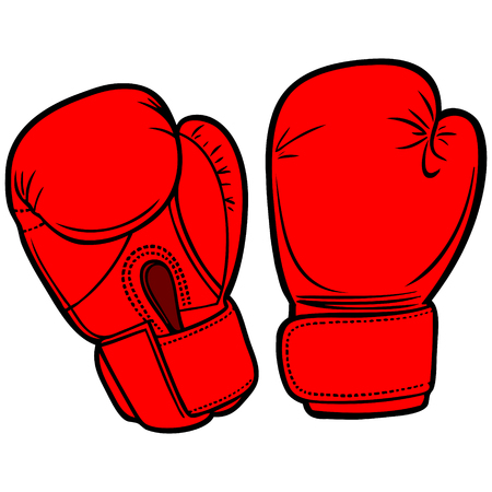 enemy: Boxing Gloves Illustration