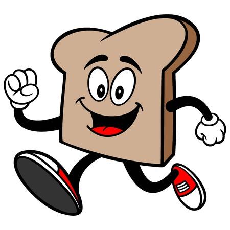 Bread Slice Running Stock Illustratie