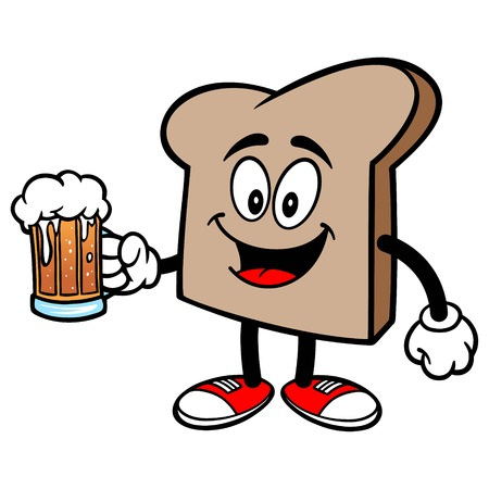 Bread Slice with a Beer