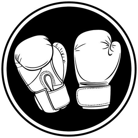individuals: Boxing Symbol Illustration