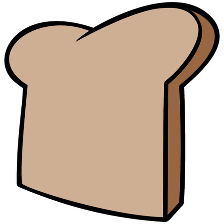 パンのスライス  イラスト・ベクター素材