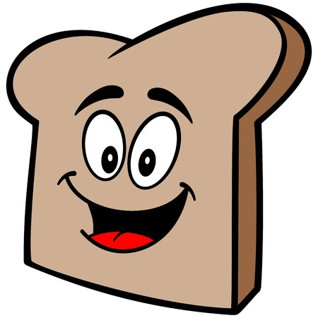 crust: Bread Slice Mascot