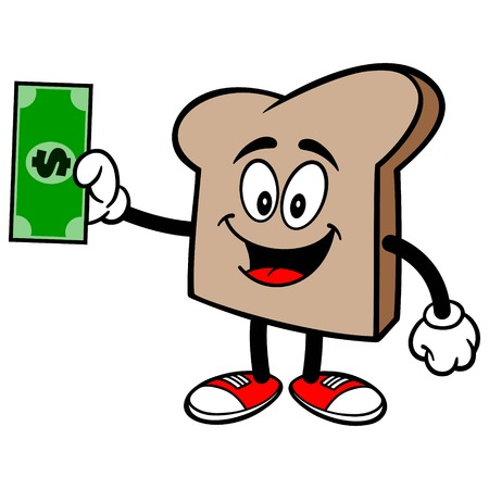 Bread Slice with a Dollar Çizim