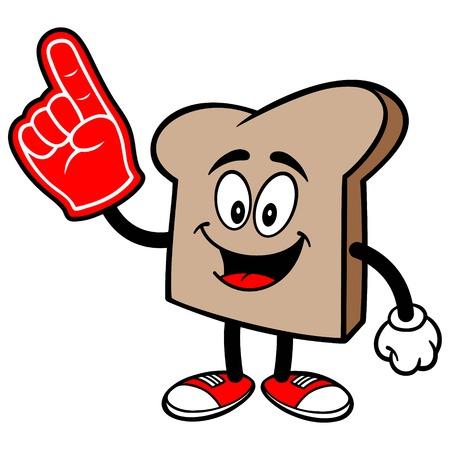 Bread Slice with a Foam Finger