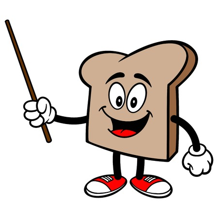 Bread Slice with a Pointer