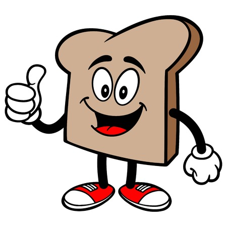 Bread Slice with Thumbs Up Çizim