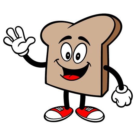 パンのスライスを振ってください。  イラスト・ベクター素材