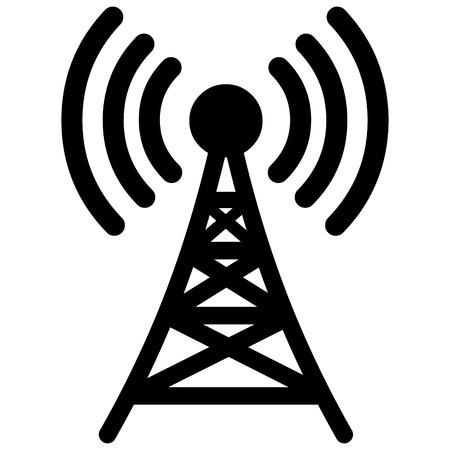 wireless signal: Broadcast Tower Illustration