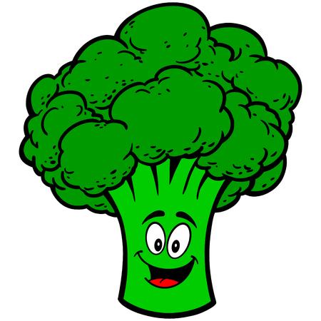 Broccoli Mascot Ilustração