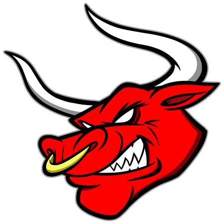 Bull Mascot Illustration