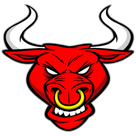 Bull Mascot Head Illustration
