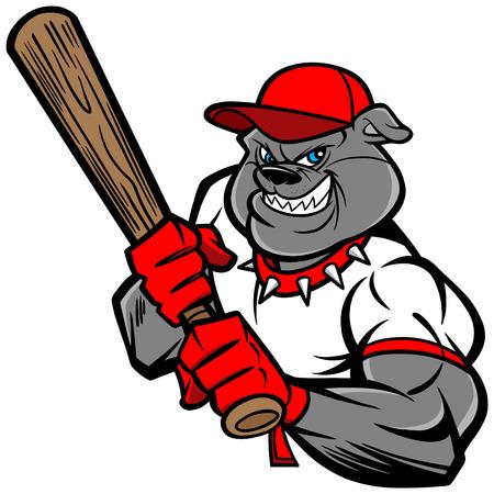 Bulldog Baseball Player Stock Vector - 57291298