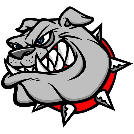 displeased: Bulldog Extreme Illustration