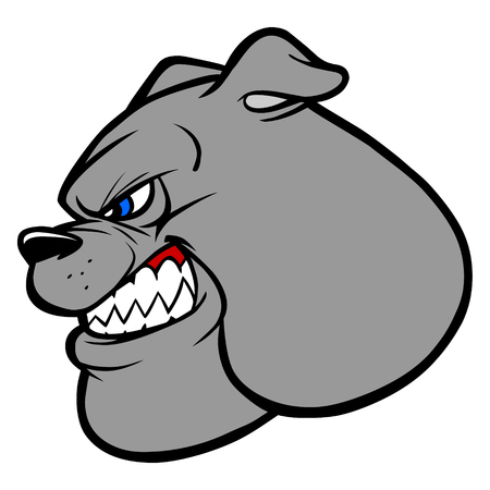 displeased: Bulldog Fighting Mascot Illustration