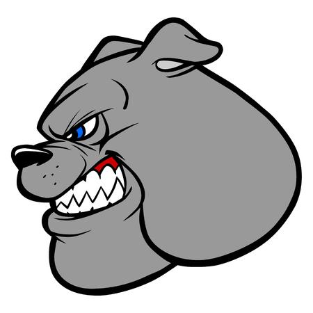 Bulldog Fighting Mascot Illustration