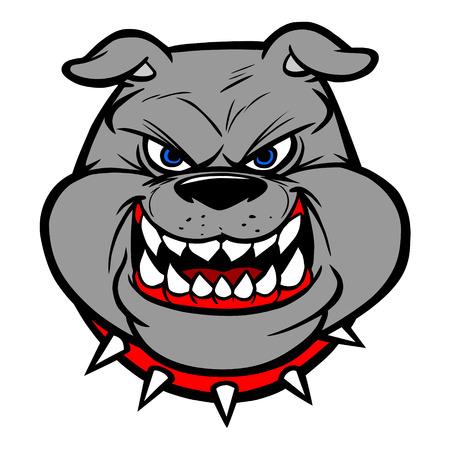 displeased: Bulldog head on View