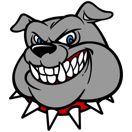 Bulldog with Spiked Collar