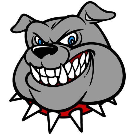 collar: Bulldog with Spiked Collar