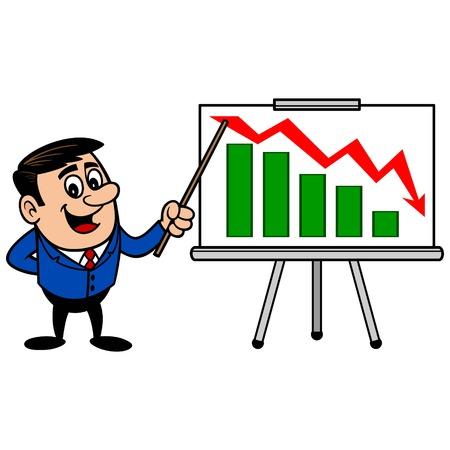 profit loss: Businessman Profit Loss Presentation