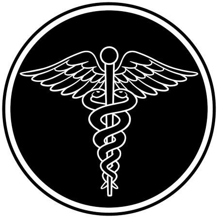 caduceus symbol: Caduceus Symbol Illustration