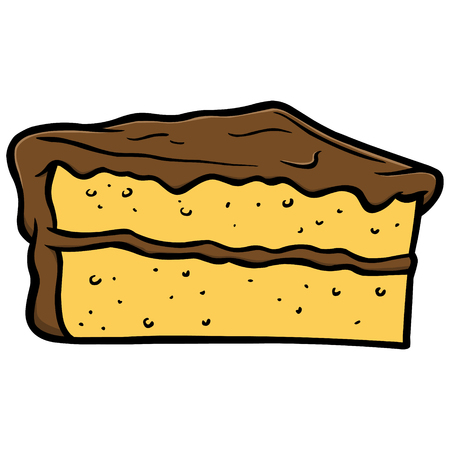 ケーキのスライス  イラスト・ベクター素材