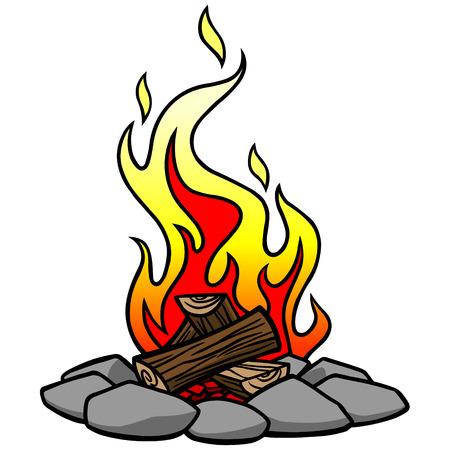Campfire Illusztráció