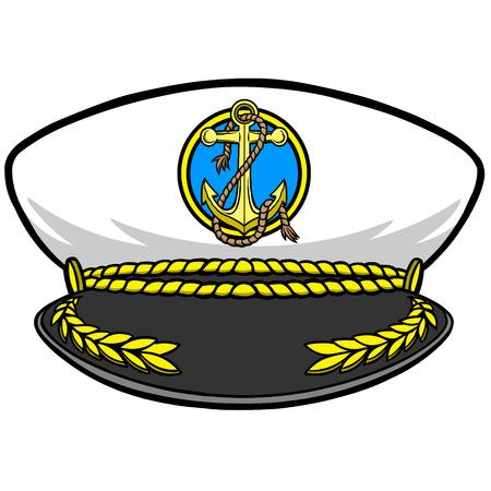 capitán Cap Ilustración de vector