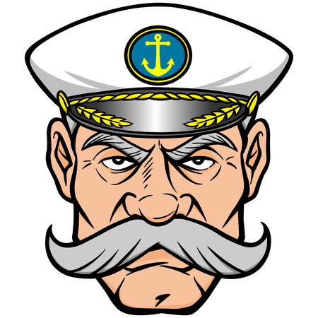 convoy: Captain Mascot Illustration