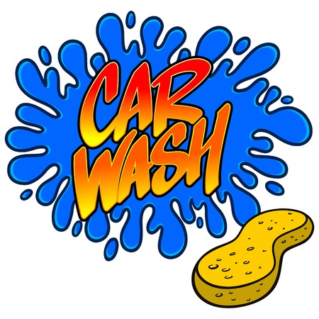 car wash: Car Wash Splat Illustration