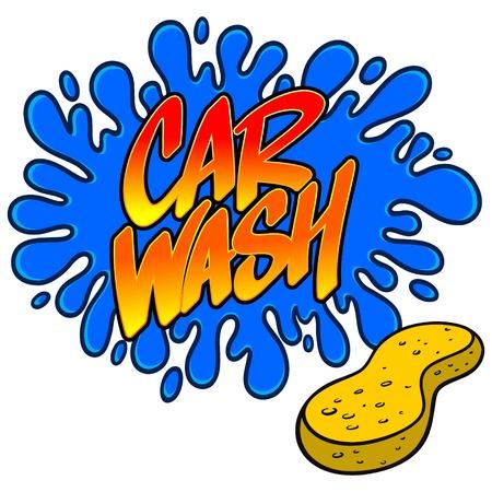 Car Wash Splat Illustration