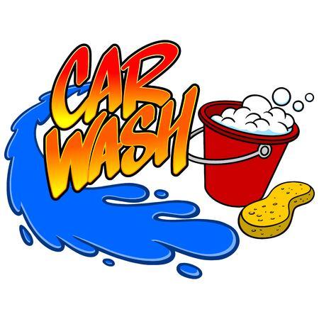 car wash: Car Wash Spray Illustration