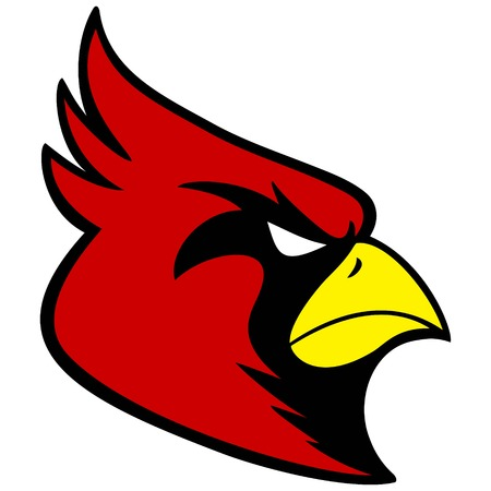 Cardinal Sports Mascot Stock Illustratie