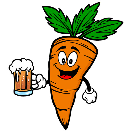 Carrot with Beer 向量圖像