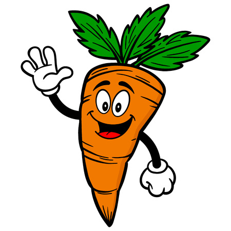 wortel Waving Stock Illustratie