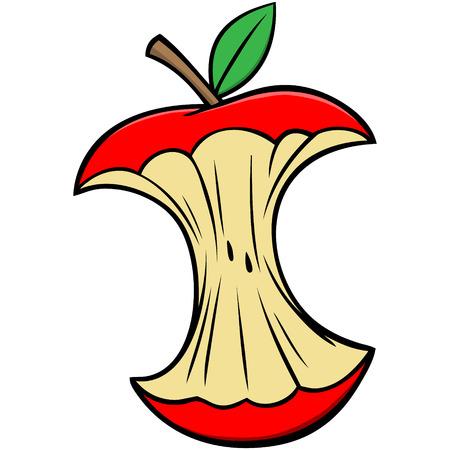 Cartoon Apple Core