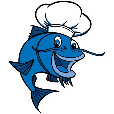 Catfish Chef Illustration