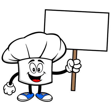 Chef-Hut mit einem Zeichen Standard-Bild - 57291488