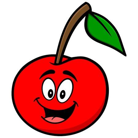Cherry Mascotte van het Beeldverhaal Stock Illustratie