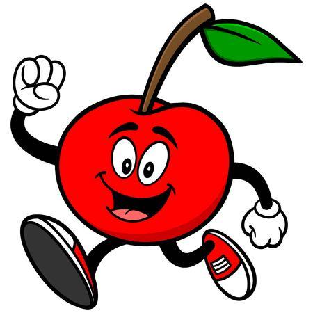 running: Cherry Running Illustration