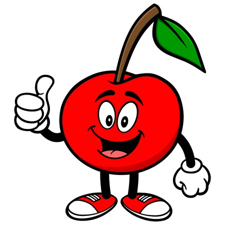 thumbs up: Cherry with Thumbs Up
