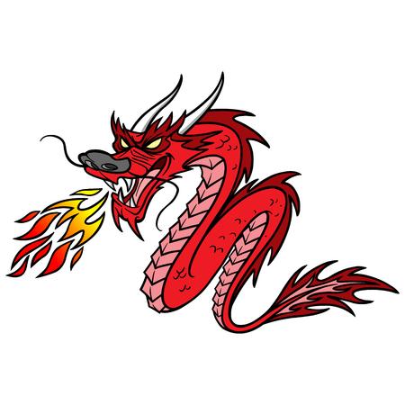 Chiński smok Ilustracje wektorowe