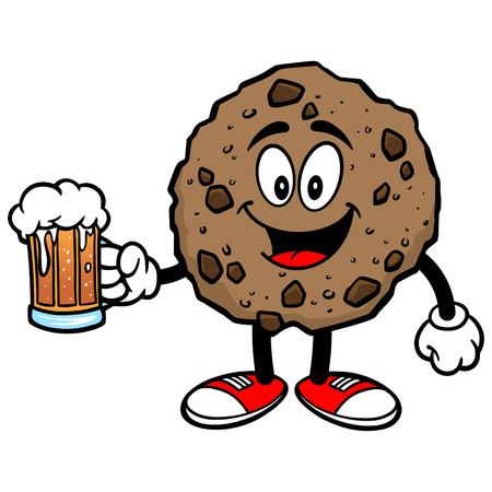 Chocolate Chip Cookie with a Beer