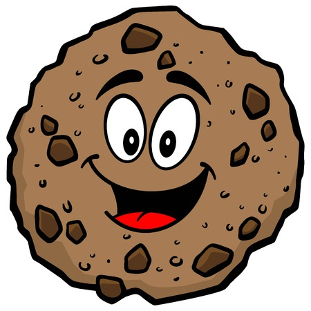 Chocolate Chip Cookie mascot Illustration