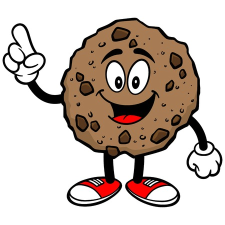 chocolate chip: Chocolate Chip Cookie Talking Illustration