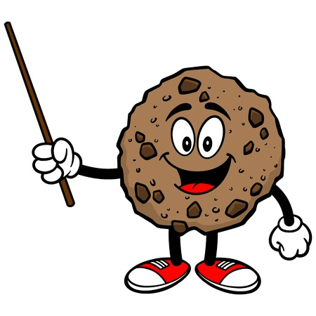 chocolate chip: Chocolate Chip Cookie with a Pointer