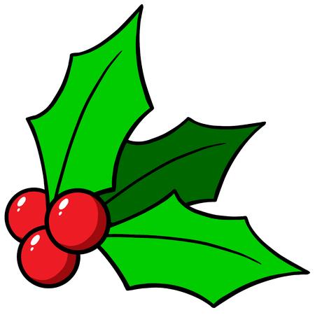 Hulst van Kerstmis Stock Illustratie