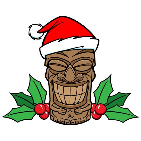 Christmas Tiki 向量圖像