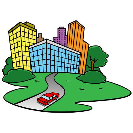 city: City Icon Illustration